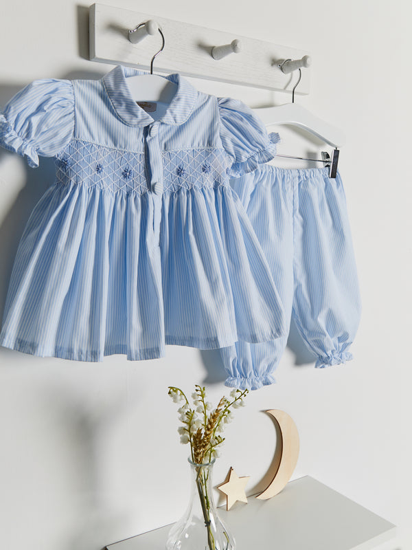 As Seen In Vogue hand smocked bloomer set - Rose & Albert