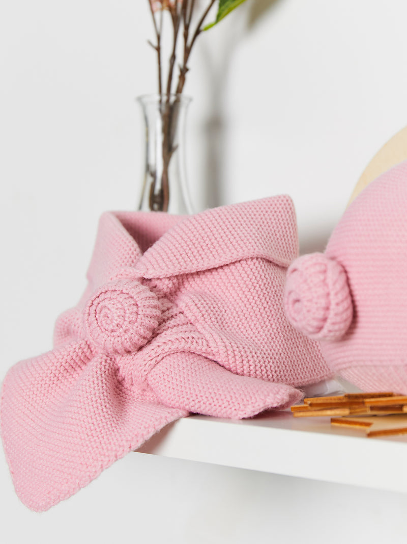 Granlei knitted beret & scarf set - Rose & Albert