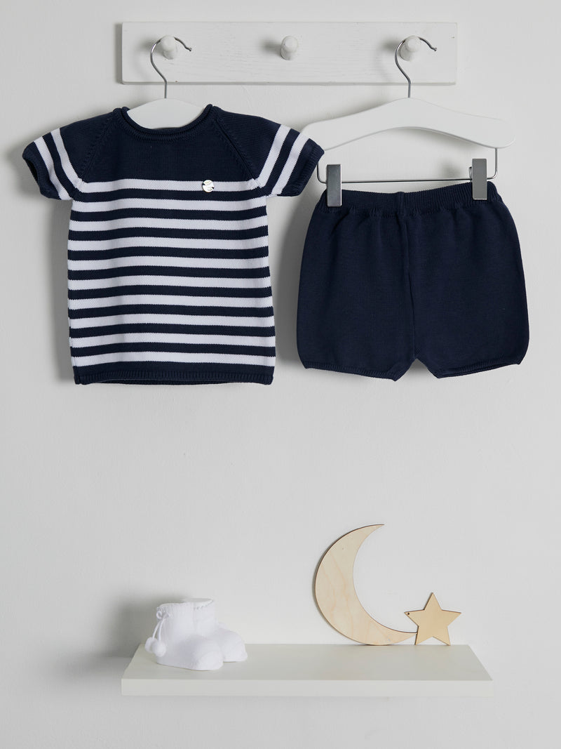 Granlei Stripe Knitted Shorts Set - Rose & Albert