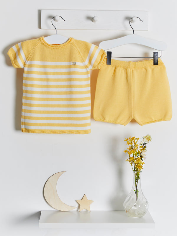 Granlei Stripe Knitted Shorts Set