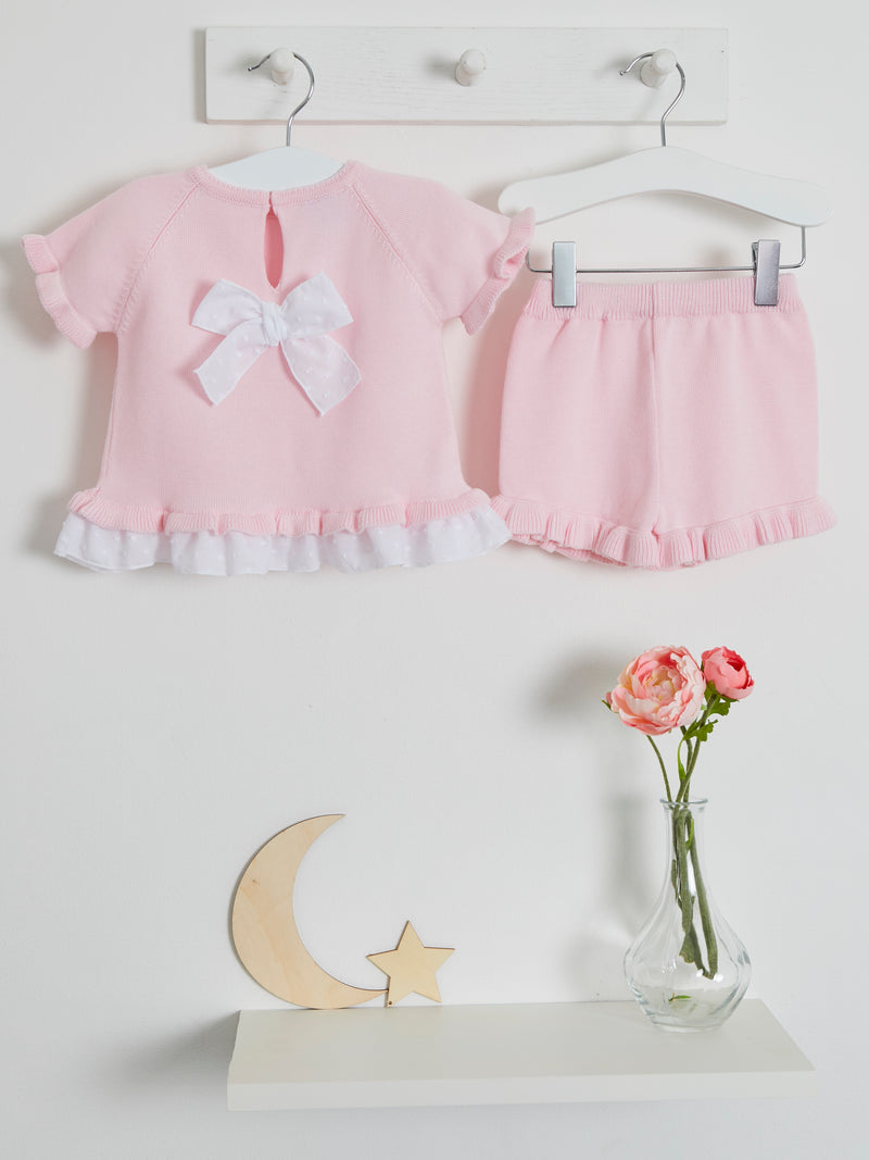 Pre Order Only Granlei bow detail short set - Rose & Albert