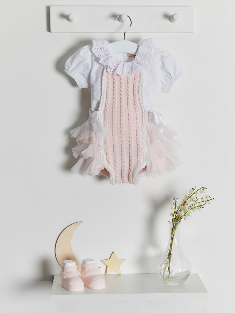Caramelo Kids Knitted romper & tee set - Rose & Albert