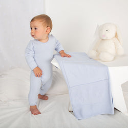 SS21 Caramelo Kids Embroidered Blanket - Sky Blue