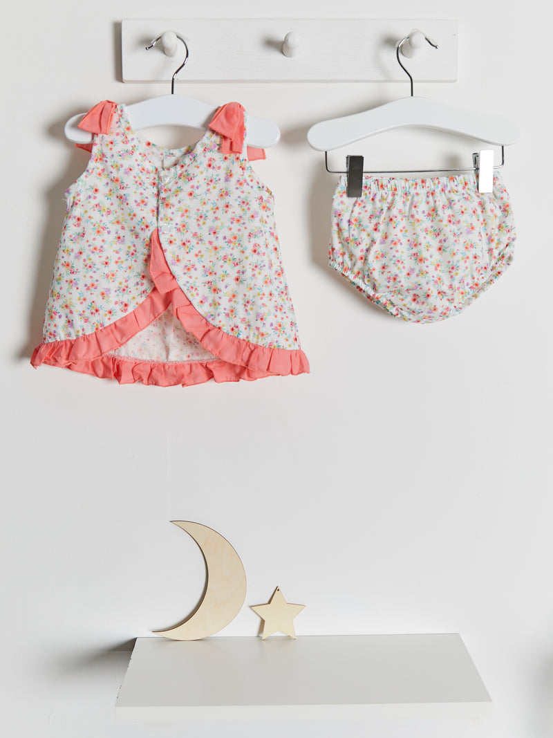 Calamaro Woven Floral Dress & knicker set - Rose & Albert