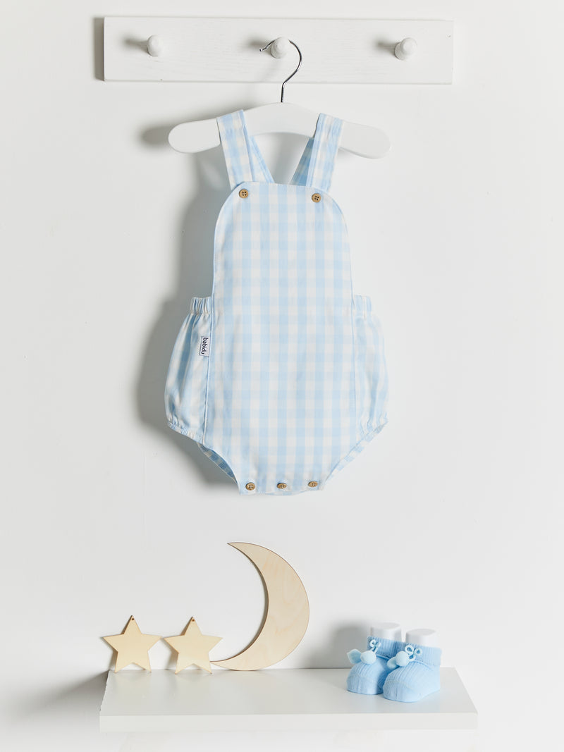 Babidu woven gingham dungaree - Rose & Albert