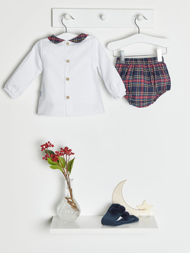 Babidu tartan jam pants & top set - Rose & Albert