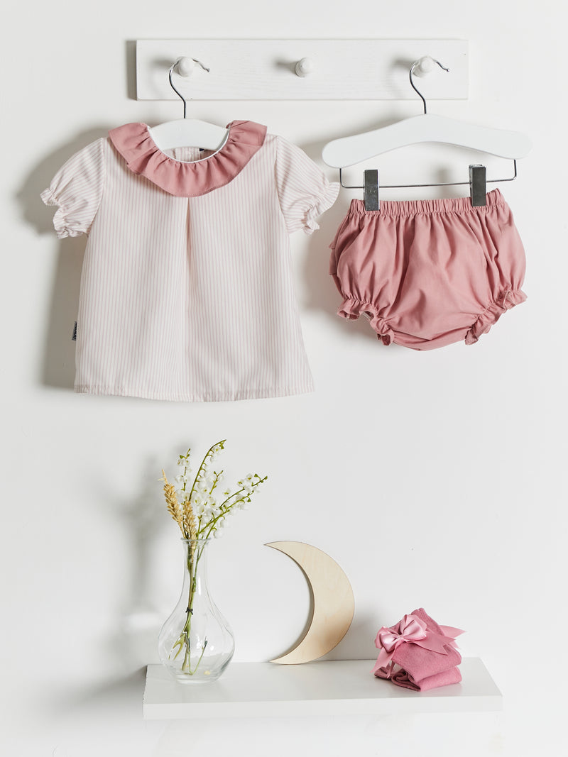 Babidu woven stripe jam pant set - Rose & Albert
