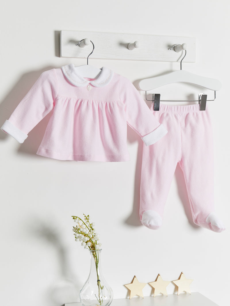 Babidu Peter Pan Collar 2 piece Set - Rose & Albert