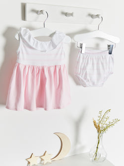 Babidu frill back stripe dress with knickers - Rose & Albert