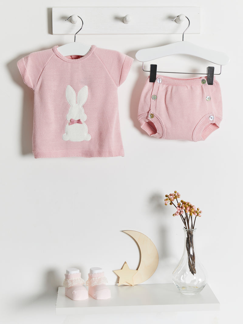 Dandelion Bunny 2 piece knitted set - Rose & Albert