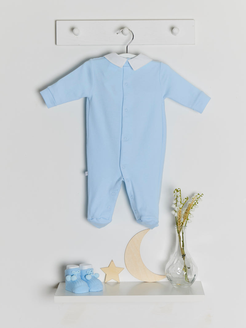 Dandelion smocked cotton sleepsuit - Rose & Albert