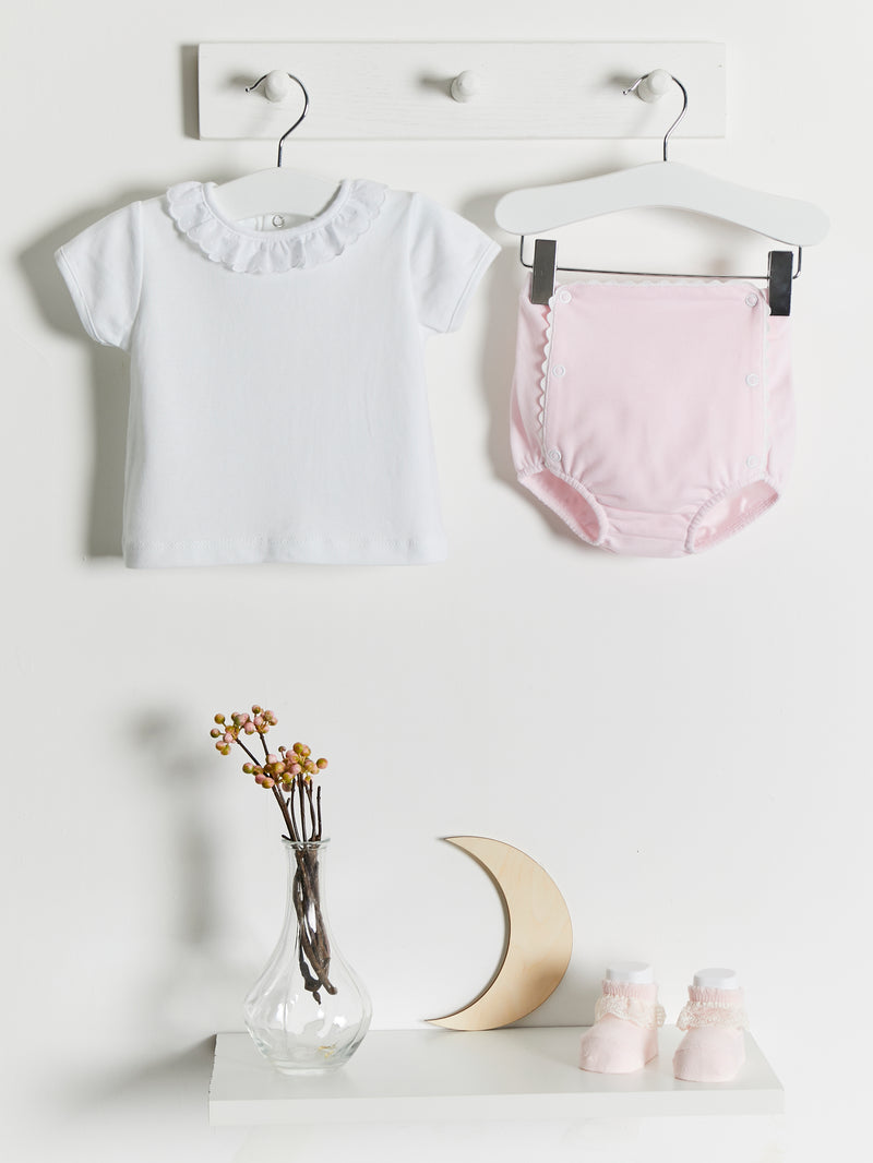 Dandelion jam pants set - pink - Rose & Albert