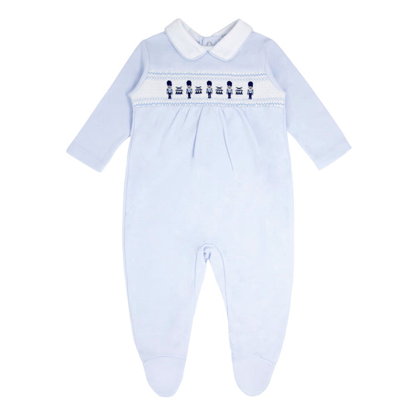SS21 BLUES BABY SOLDIER SLEEPSUIT