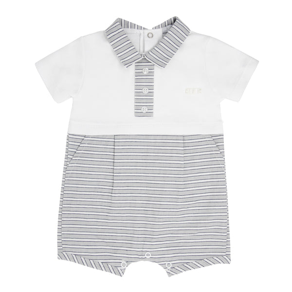 SS21 BLUES BABY STRIPE ROMPER