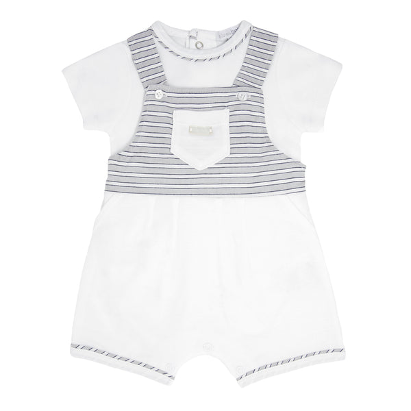SS21 BLUES BABY 2 PIECE STRIPE DUNGAREE SET