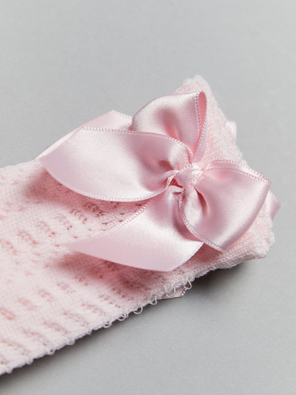 Meia Pata satin bow socks - Rose & Albert