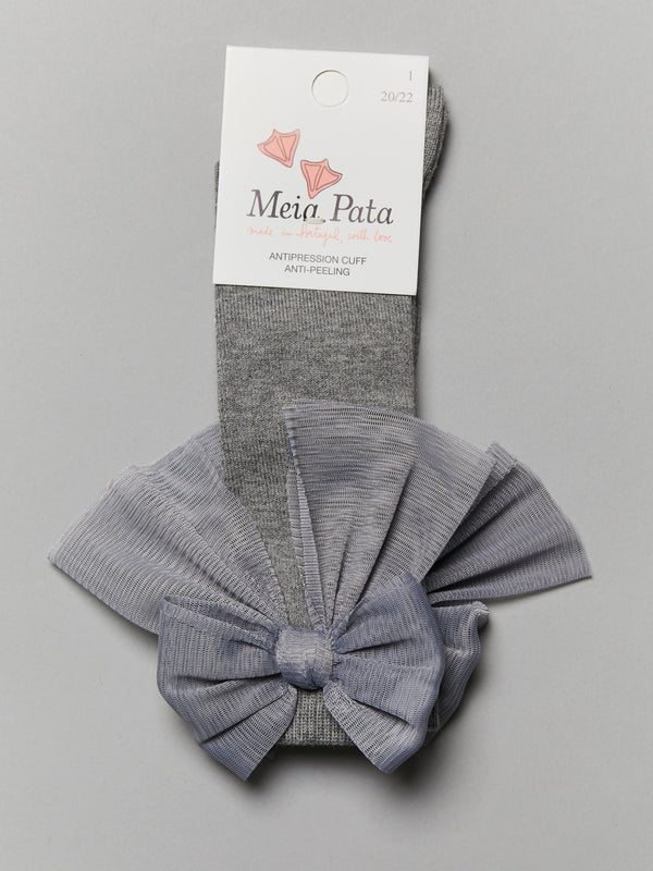 Meia Pata tulle bow knee socks - Rose & Albert
