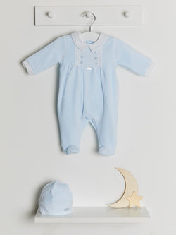 Coco collection velour sleepsuit & hat - Rose & Albert