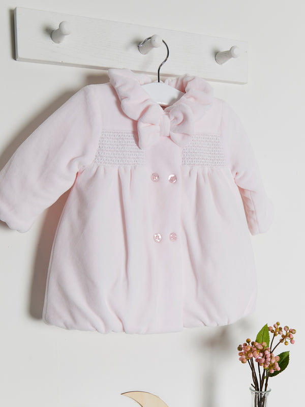 Coco collection smocked velour coat & hat - Rose & Albert