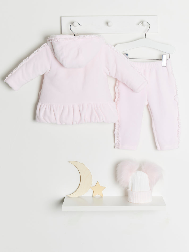 Coco collection 3 piece velour pram suit - Rose & Albert