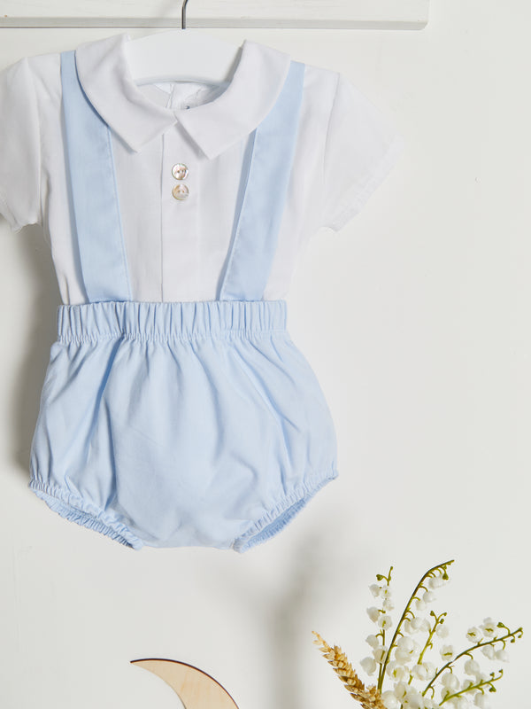 Calamaro shirt & dungaree set - Rose & Albert
