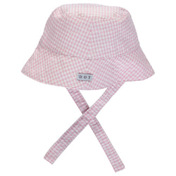 SS21 DOT Baby Check Bucket Hat - pink