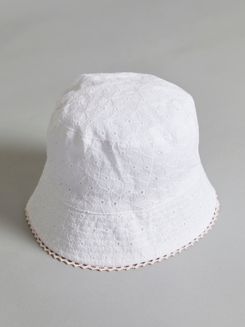 Broiderie anglais summer hat - Rose & Albert