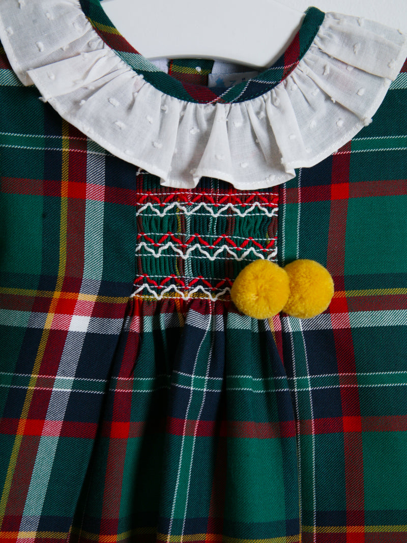Sardon Tartan Pom Dress