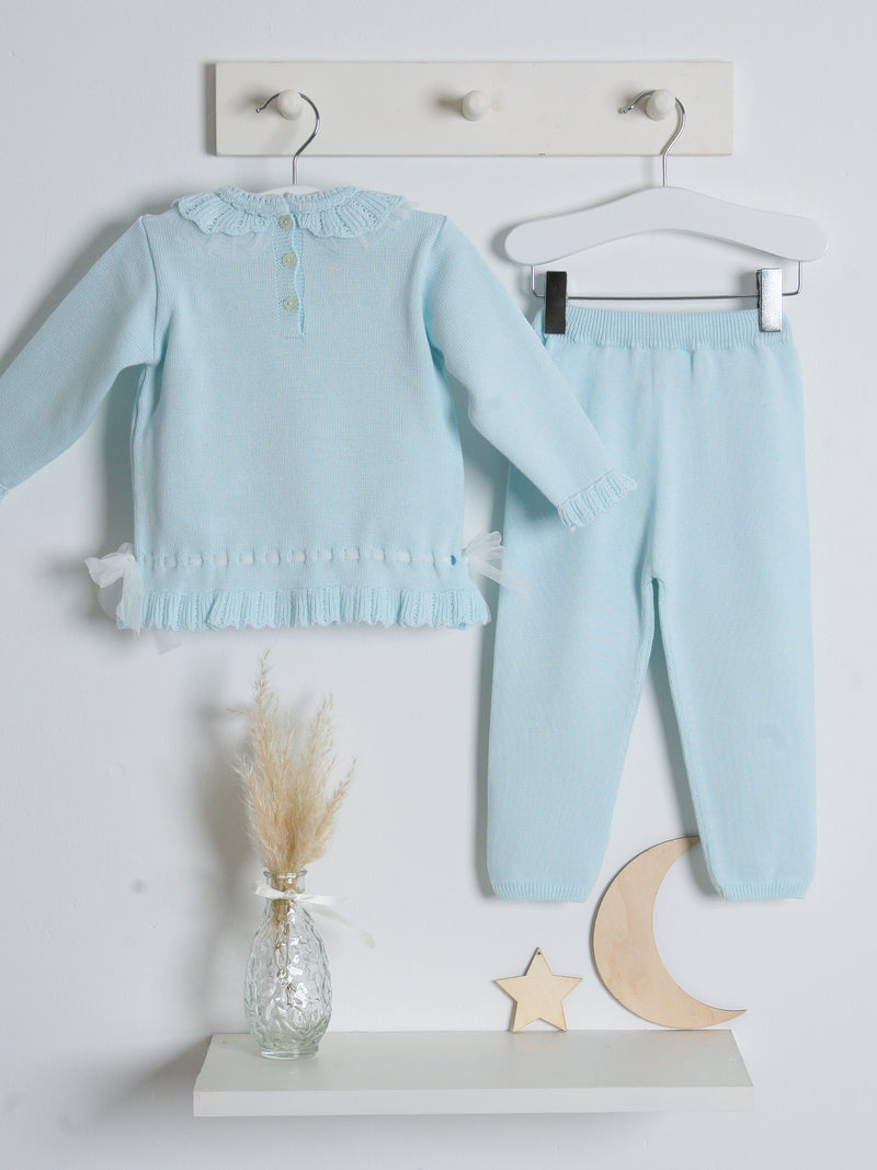 SS21 Granlei tulle knitted tracksuit - mint green