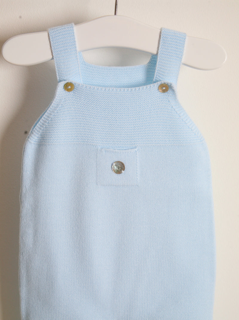 Granlei knitted dungarees - blue