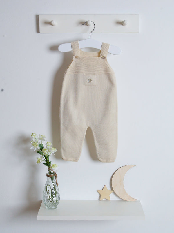 Granlei knitted dungarees - beige