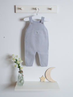 Granlei knitted dungarees - grey