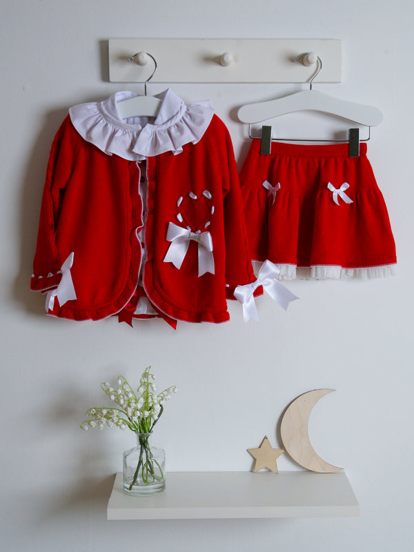 Caramelo Kids 3 piece knitted skirt set