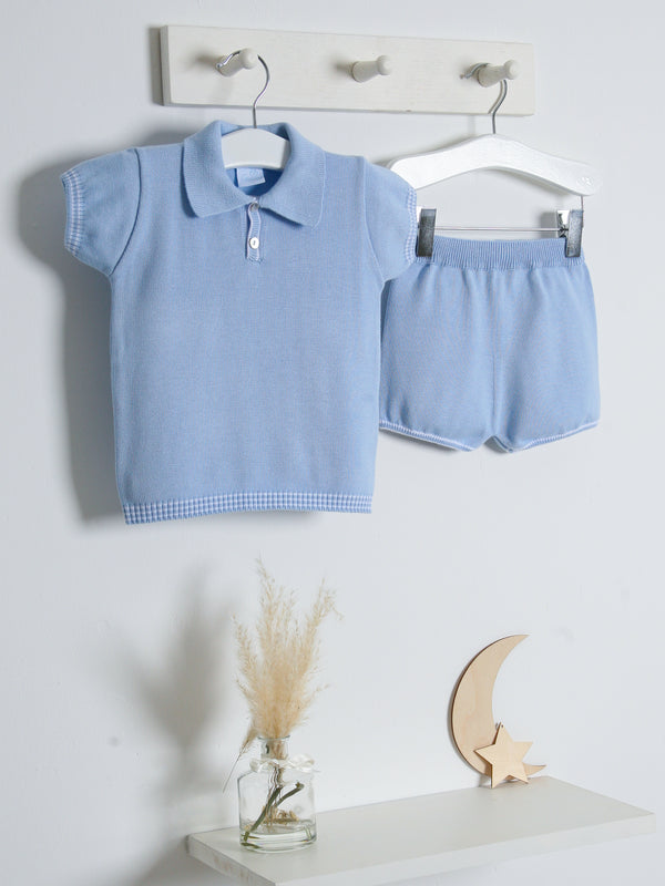 SS21 Granlei Polo Collar Knitted Short Suit