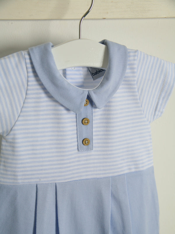 SS21 Babidu Peter Pan collar stripe romper
