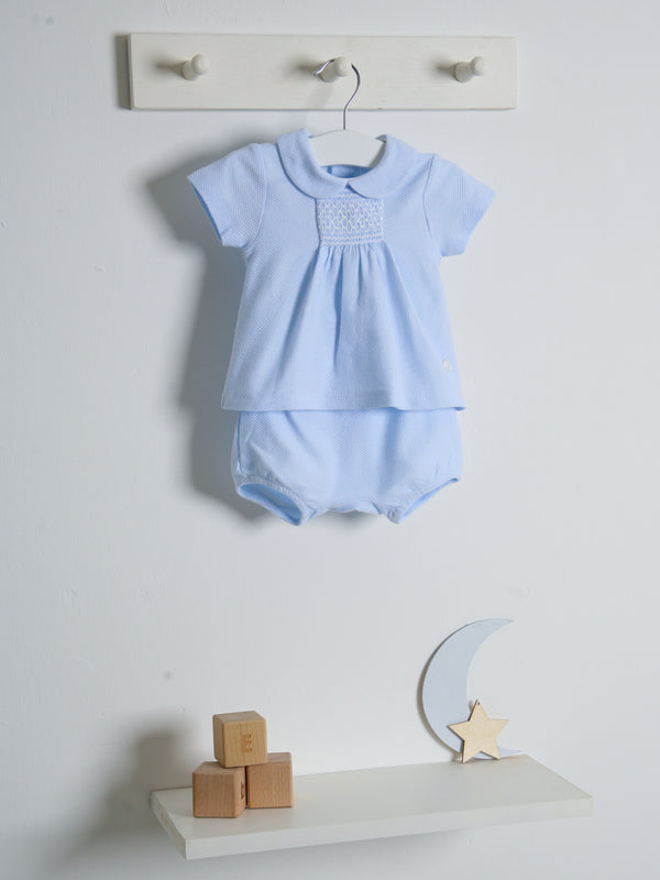 SS21 Babidu peter pan collar short set