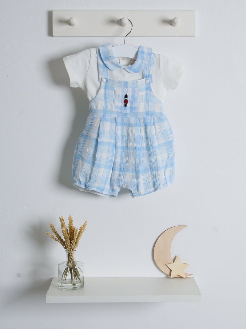 SS21 Caramelo Kids Soldier Dungaree and tee set