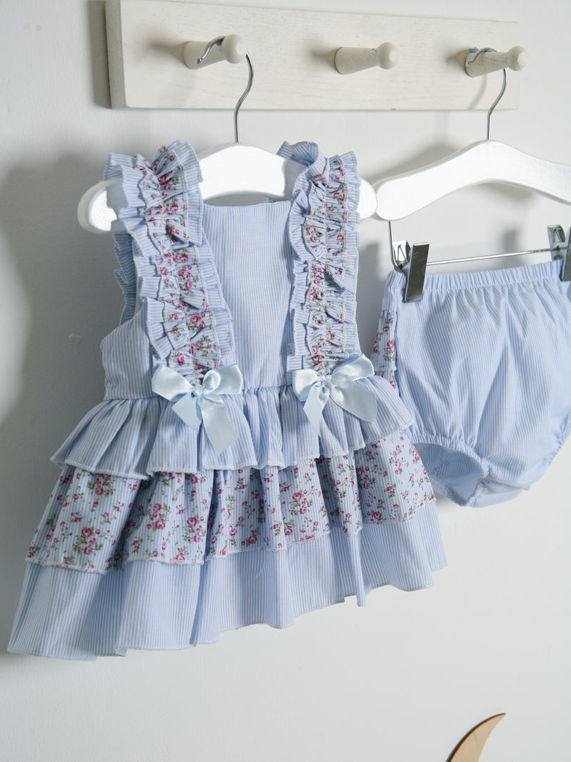 SS21 Caramelo Kids Ditsy Floral dress & bloomer set