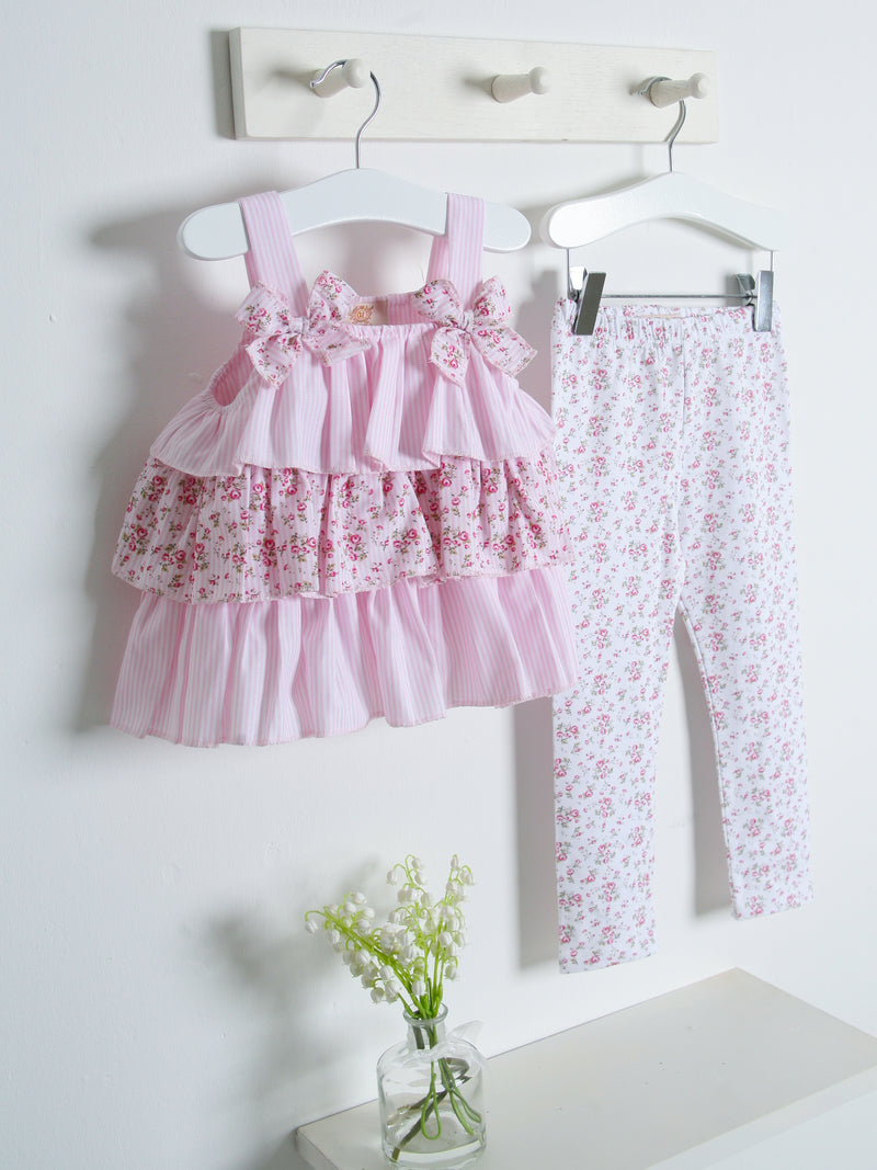 SS21 Caramelo Kids Ditsy Floral Top & legging set