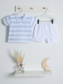 SS21 Sardon Pique polo top & short set