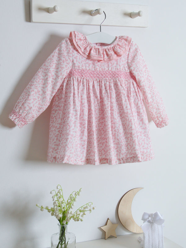 Sardon floral smocked dress