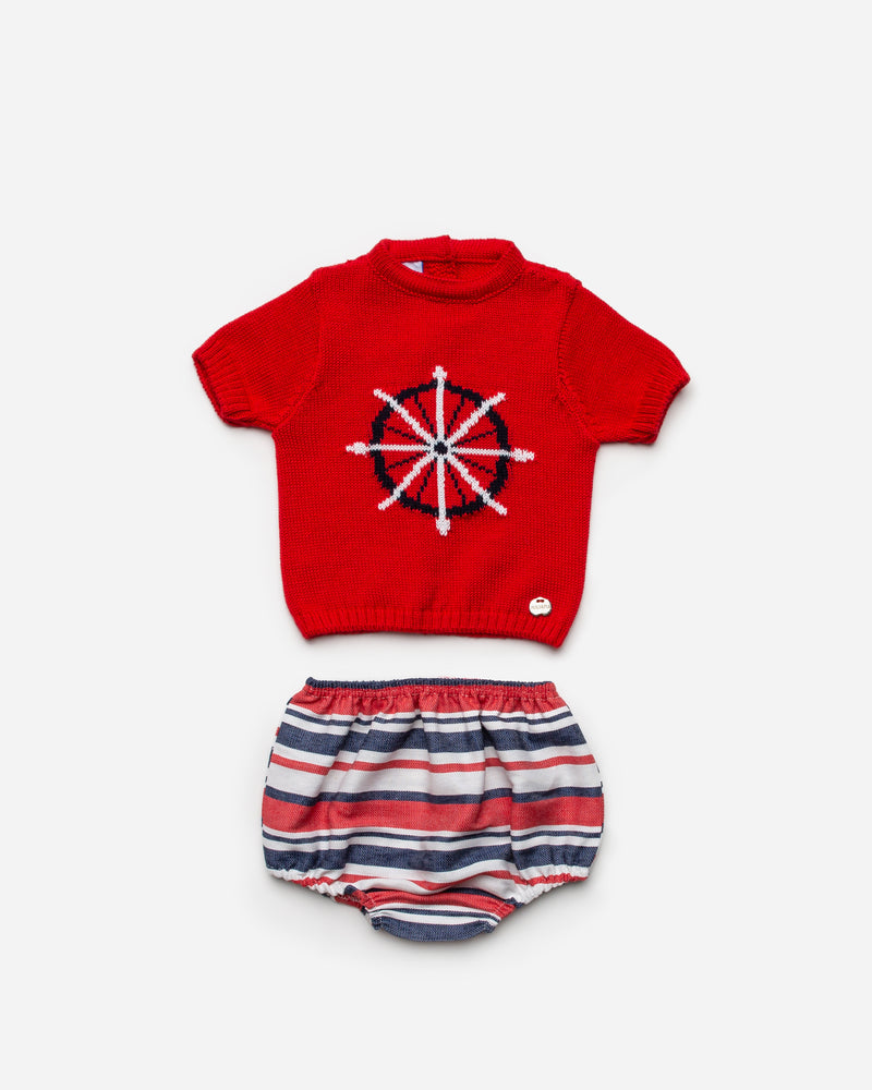 SS21 Juliana Nautical jam pant set