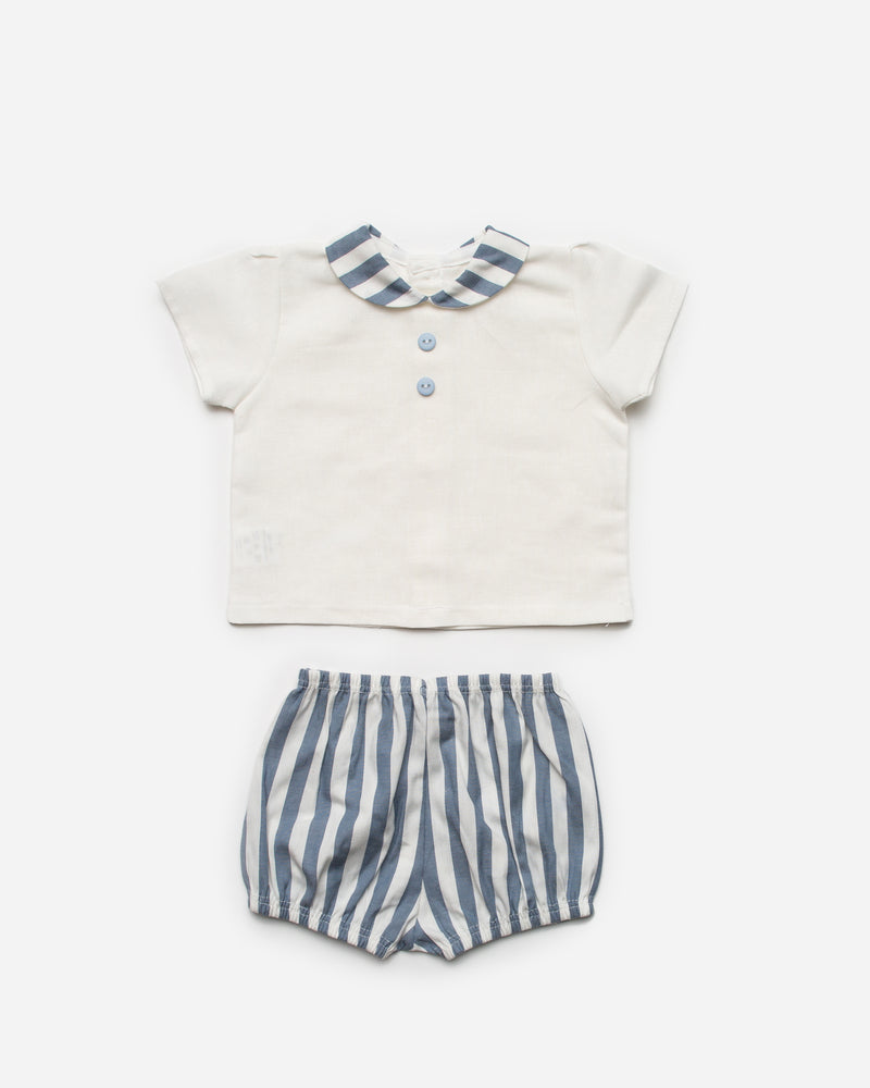SS21 Juliana Blue Stripe jam pant set