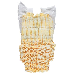 SS21 Dot Baby Check Swimsuit - yellow