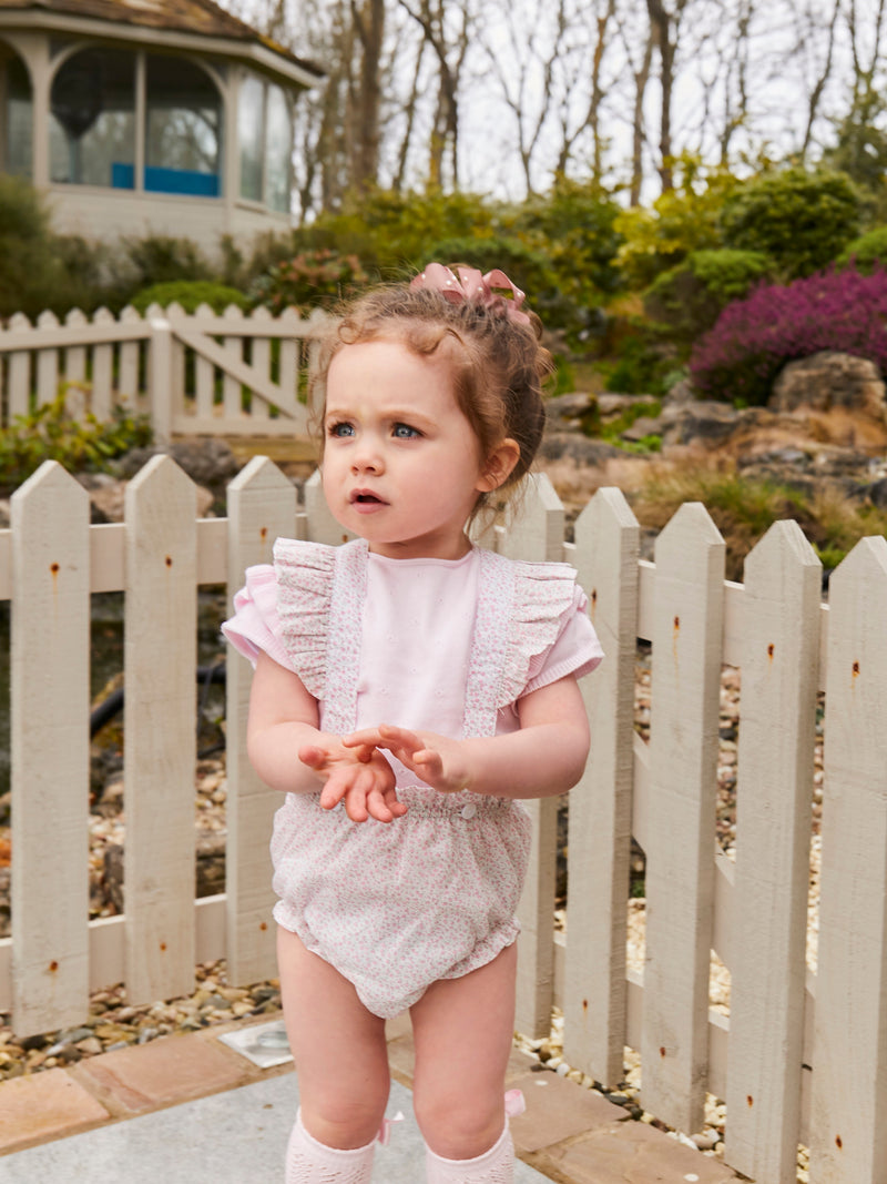 Wedoble ditsy frill dungaree & jumper set - Rose & Albert