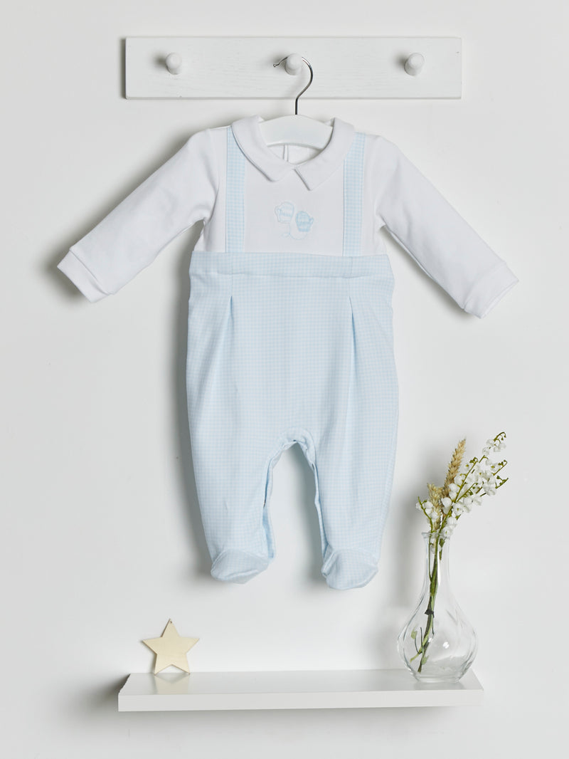 Mintini dungaree sleepsuit - Rose & Albert