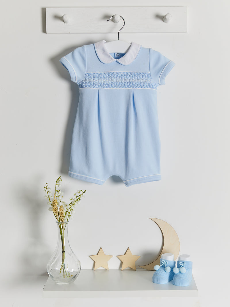 Mintini smocked romper - Rose & Albert