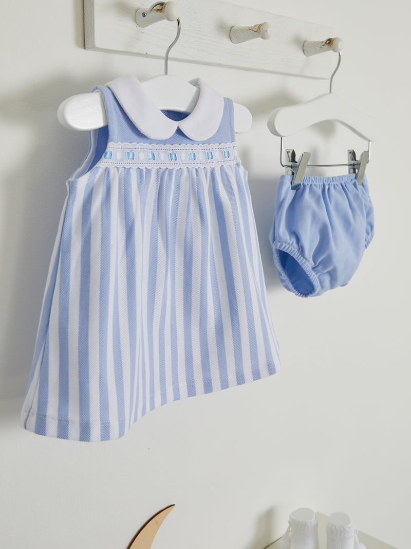 Mintini stripe dress and knicker set - Rose & Albert
