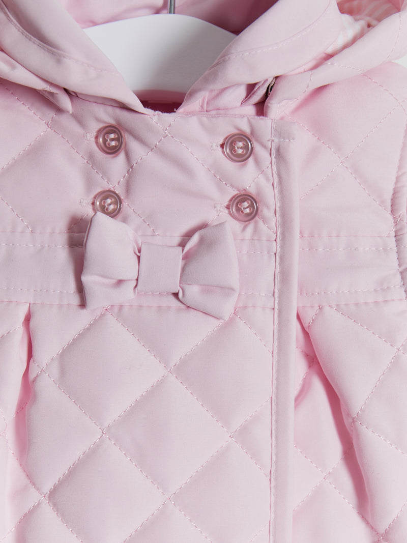 Mintini Baby Quilted hooded jacket - Rose & Albert