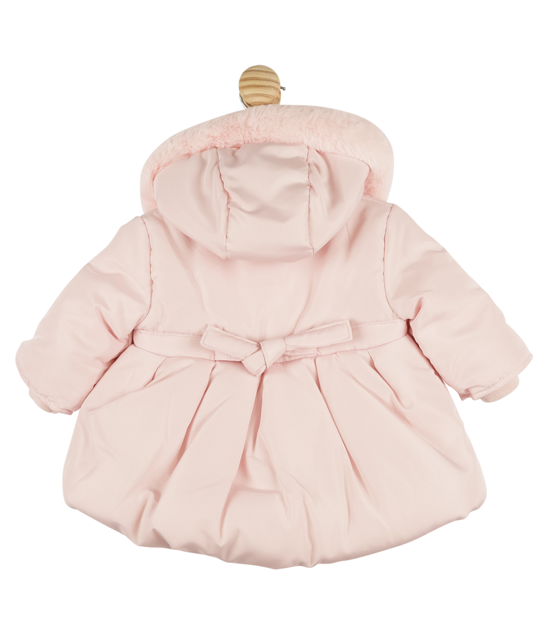Mintini bubble padded hooded coat - pink
